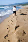 Beach walking — Stock Photo