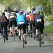 Cyclists on the road — Stock Photo