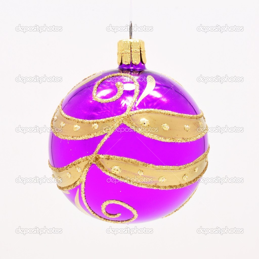Beautiful colorful Christmas ornament with gold accents — Stock Photo #11940810