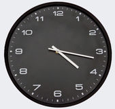 Black clock — Stockfoto