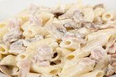 Macaroni carbonara — Stock Photo