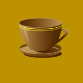 Brown coffee cup with saucer — Stock Photo