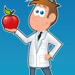 Stock Vector: Dietitian-Apple