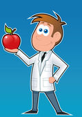 Dietitian-Apple — Vector de stock