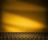 Sfondo camera di metallo dorato — Foto Stock