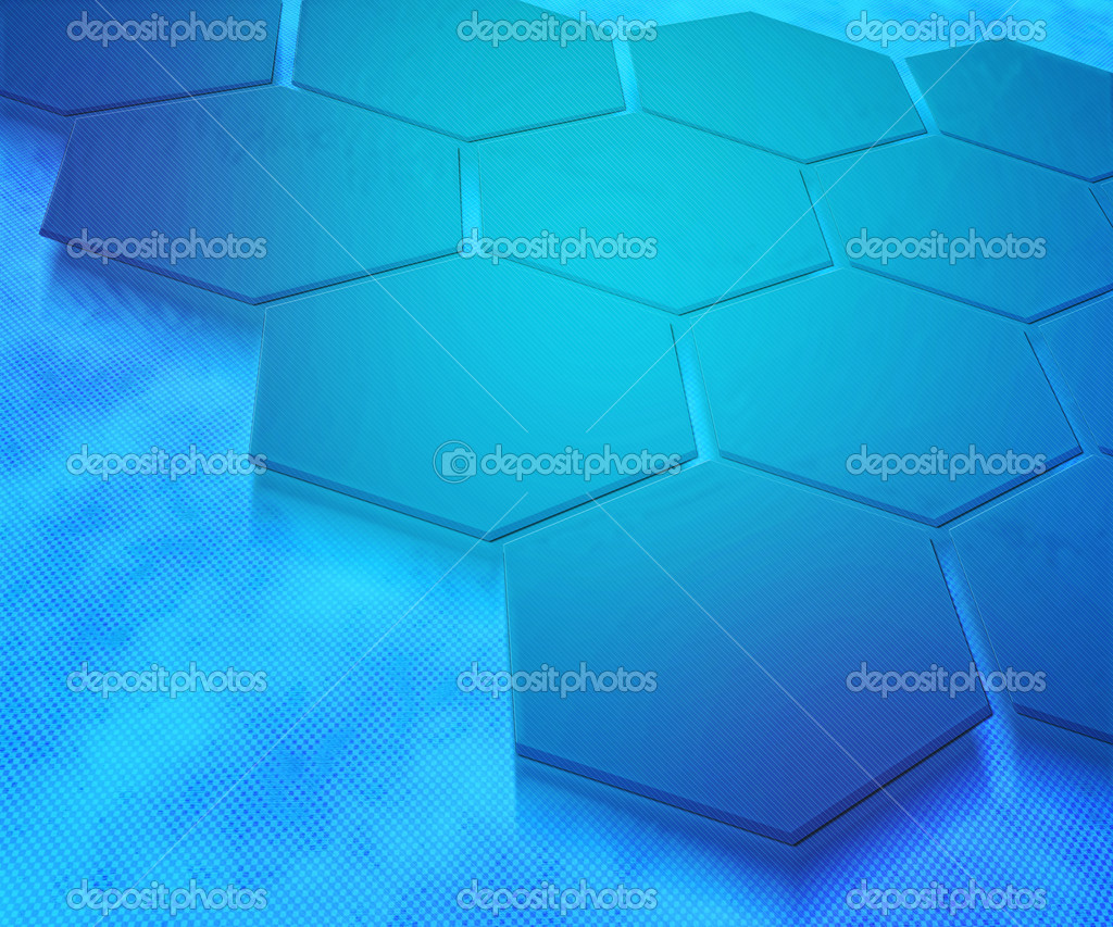Blue Hexagons Abstract Background — Stock Photo #10803787