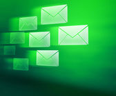 Green E-mails Abstract Background — Stock Photo