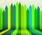 Grüne Pfeile Bühne Hintergrund — Stockfoto