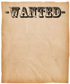 Vintage Wanted Poster Background — Stock Photo