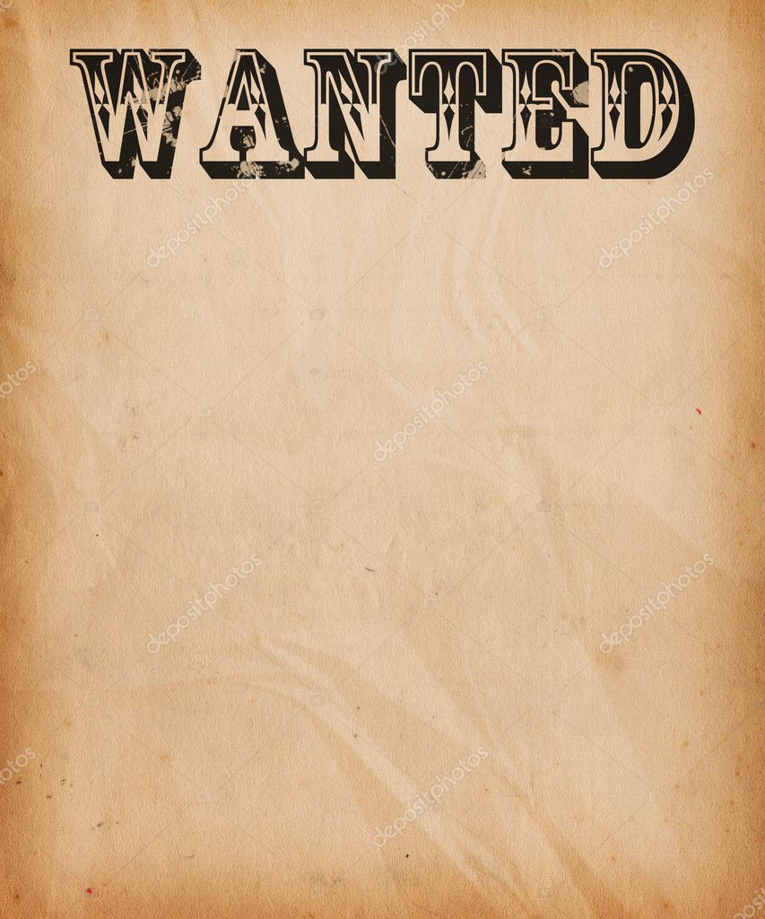 Vintage Wanted Poster Background Photo BackgroundStor – Wanted Sign Font