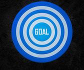 Målet på målet — Stockfoto