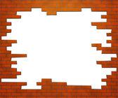 Quadro de tijolo — Fotografia Stock