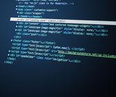 Blue html Code Background — Stock Photo