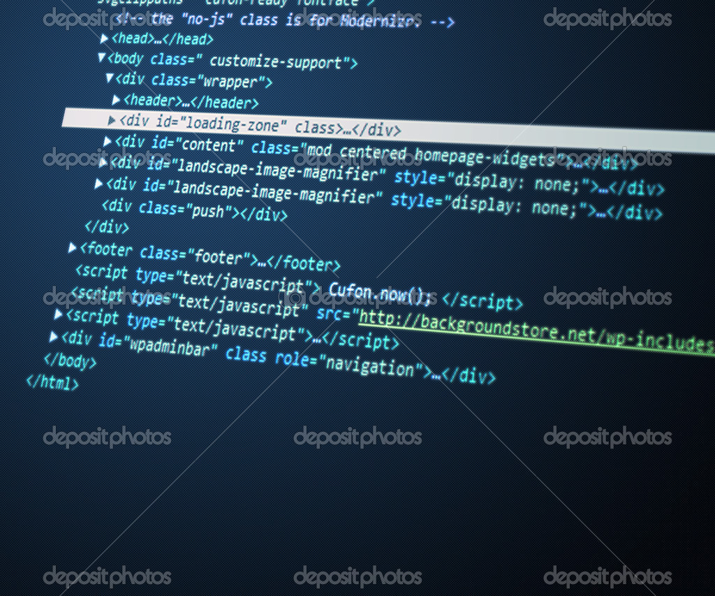 Blue Html Code Background