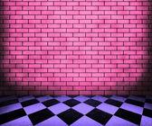 Chessboard Violet Interior Background — Stock Photo