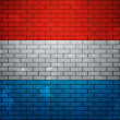 Royalty-Free Stock Photo: Flag of Luxembourg on Brick Wall