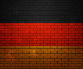Flag of Germany on Brick Wall — Stock Photo