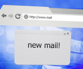 New Mail Pop-up Window in Web Browser — Stock Photo