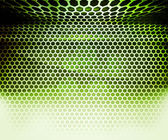 Green Hex Grid Abstract Background — Stock Photo