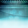 Blue Hex Grid Abstract Background — Stock Photo