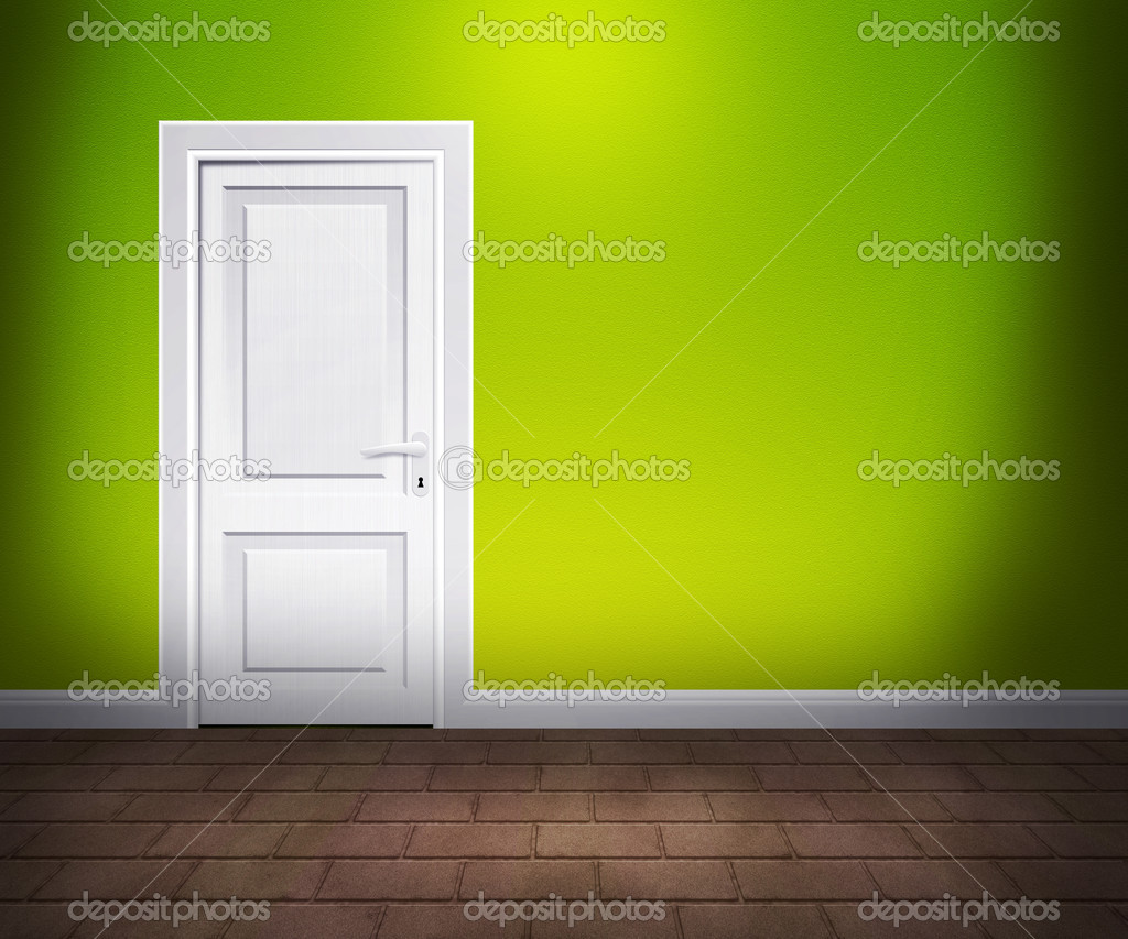 Door in the Wall Lime Interior — Stock Photo #11549685