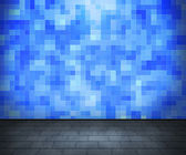 Blue Tiled Interior — Stock Photo