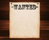 Wanted Poster on Wooden Wall — Stock Photo