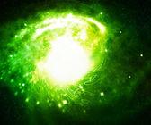 Green Digital Galaxy — Stock Photo