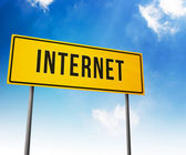 Internet on Road Sign — 图库照片