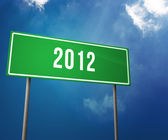 2012 Year on the Road Sign — Stock Photo