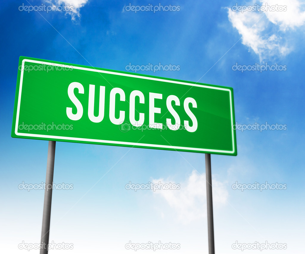 Success on Road Sign — Stock Photo #11689383