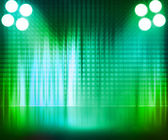 Green Spotlight Stage Background — Foto Stock