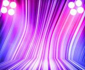 Violet showroom schijnwerpers etappe achtergrond — Stockfoto