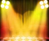Golden Stage Spotlight Background — Stock Photo