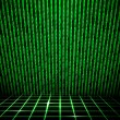 Green Matrix Room — Stock Photo