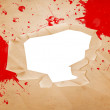 Blood on Paper with Hole — Stock Photo