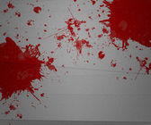 Blood on Paper — Stock Photo