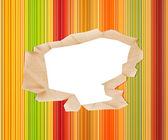 Hål i färgat papper — Stockfoto