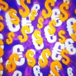 Violet Money Background — Stock Photo