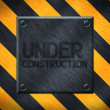 Under Construction Metal Plate Background — Stock Photo