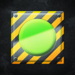 Stock Photo: Green Button