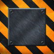 Under Construction Metal Plate Background — Stock Photo #12178623