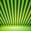Green Striped Background Show Room — Stock Photo #12202682