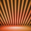 Orange Striped Background Show Room - Stock Photo