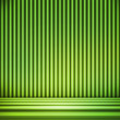 Green Striped Background Show Room — Stock Photo