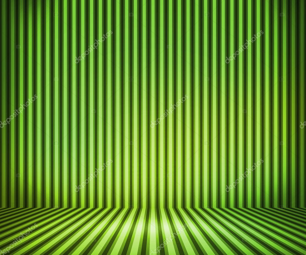 Green Striped Background Show Room  Stock Photo #12202698