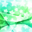 Abstract Stars Green Background — Stock Photo