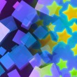 Abstract Stars Violet Background — Stock Photo