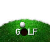 Golf White Background — Stock Photo