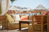 Beach restaurant — Stock Photo